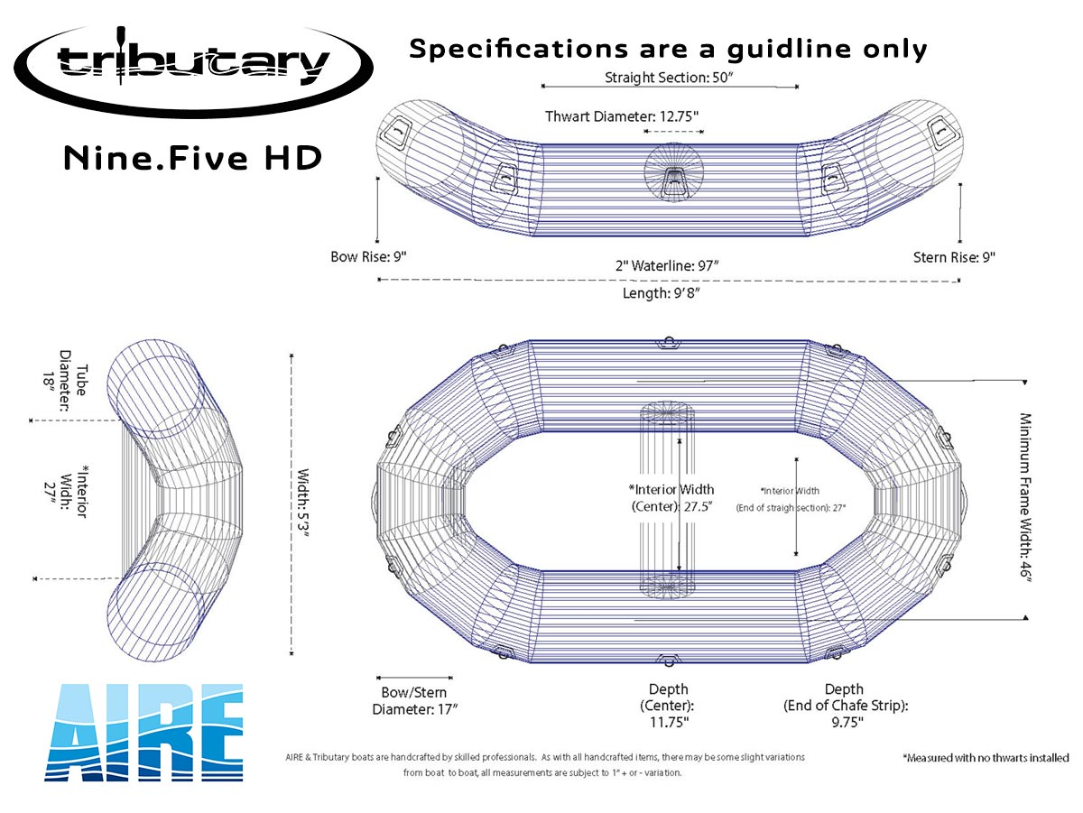 Tributary Nine.Five HD Raft Wire Frame